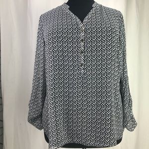 a.n.a A New Approach Top Plus Size 2X Sheer NWT